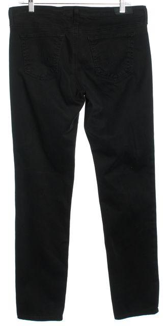 AG ADRIANO GOLDSCHMIED Black Mid-Rise Cigarette Leg Skinny Jeans