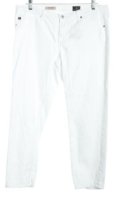 AG ADRIANO GOLDSCHMIED White Cigarette Crop Capri Jeans