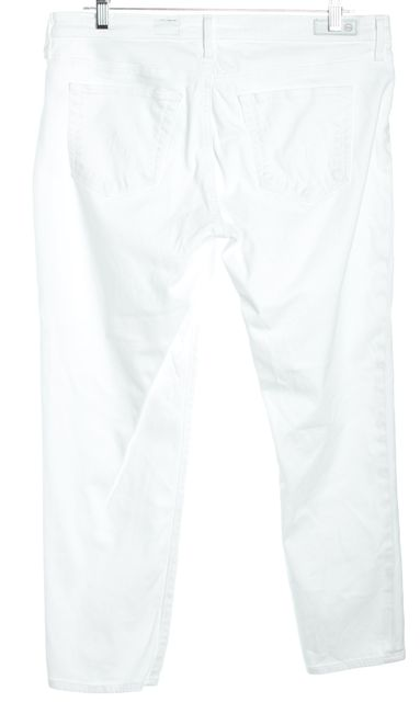 AG ADRIANO GOLDSCHMIED White Cigarette Crop Capri Jeans
