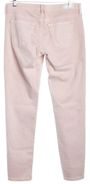 AG ADRIANO GOLDSCHMIED Blush The Stevie Ankle Slim Straight Leg Jeans