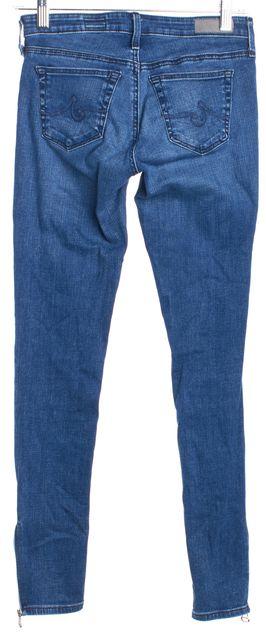 AG ADRIANO GOLDSCHMIED Blue Skinny Ankle Zip Skinny Jeans