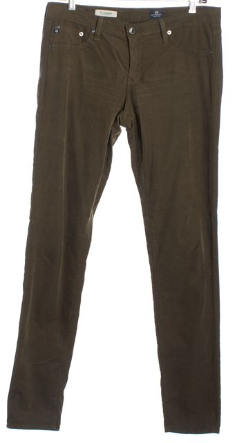 AG ADRIANO GOLDSCHMIED Olive Green Corduroys Pants