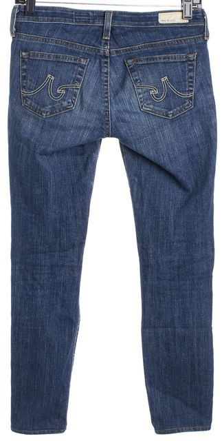 AG ADRIANO GOLDSCHMIED Blue Stilt Cigarette Low rise Capri Jeans