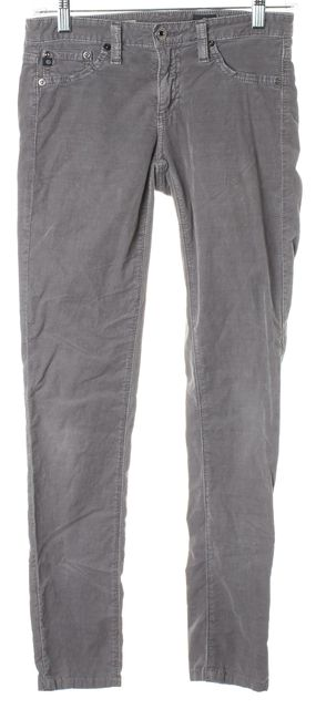AG ADRIANO GOLDSCHMIED Gray The Legging Super Skinny Corduroys Pants