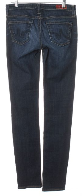 AG ADRIANO GOLDSCHMIED Blue The Stilt Cigarette Mid Rise Skinny Jeans