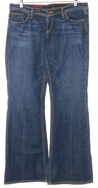 AG ADRIANO GOLDSCHMIED Blue The Merlot Wide Leg Jeans