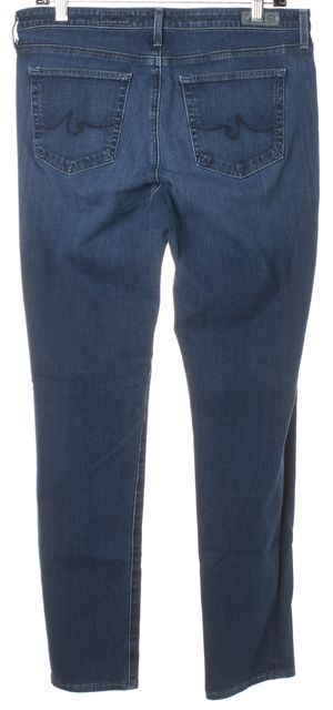 AG ADRIANO GOLDSCHMIED Blue The Prima Mid Rise Cigarette Skinny Jeans