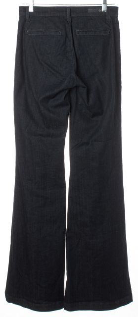 AG ADRIANO GOLDSCHMIED Dark Blue The Lana Wide Leg Classic Rise Jeans