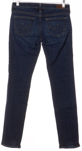 AG ADRIANO GOLDSCHMIED Dark Wash Low-Rise Cigarette Skinny Jeans