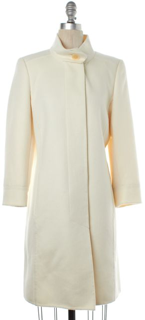 AKRIS Ivory Wool Long Coat