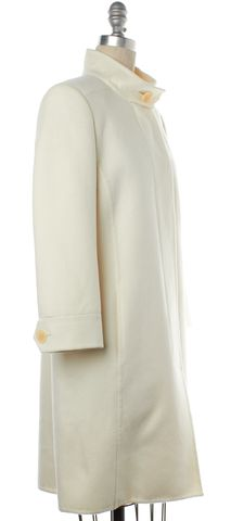 AKRIS NWOT Ivory Wool Long Coat Size 8