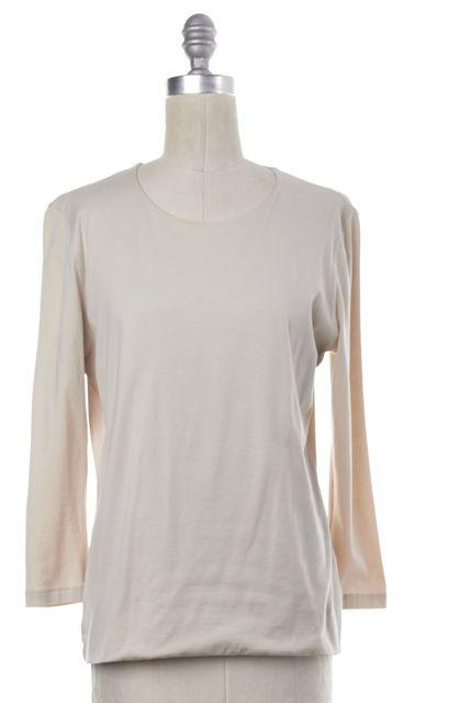 AKRIS Beige 3/4 Sleeve Top