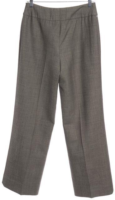 AKRIS Brown Wool Wide Leg Dress Pants