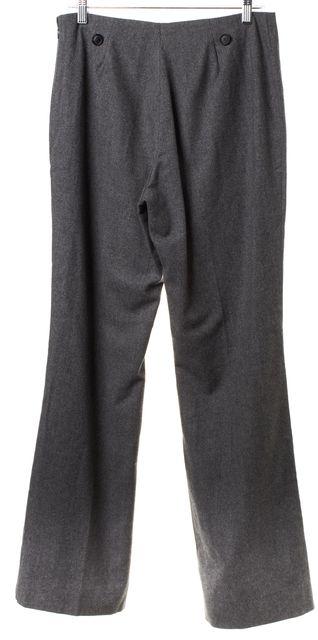 AKRIS Gray Chevron Wool Trousers Pants