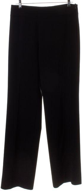 AKRIS Black Wool Wide Leg Dress Pants
