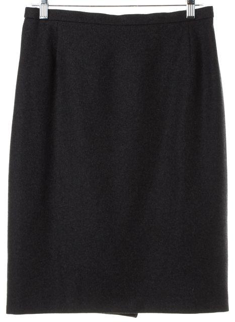 AKRIS Gray Wool Pencil Skirt
