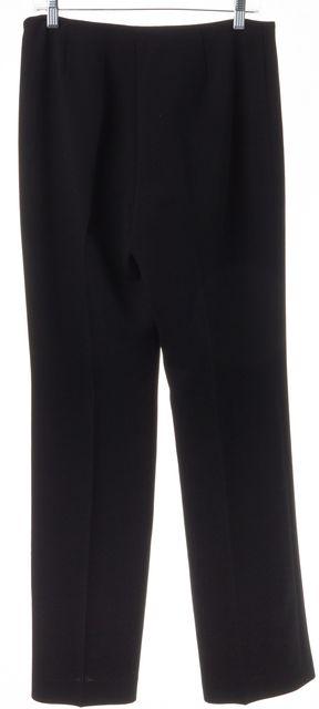 AKRIS Black Wool Blend Straight Leg Dress Pants