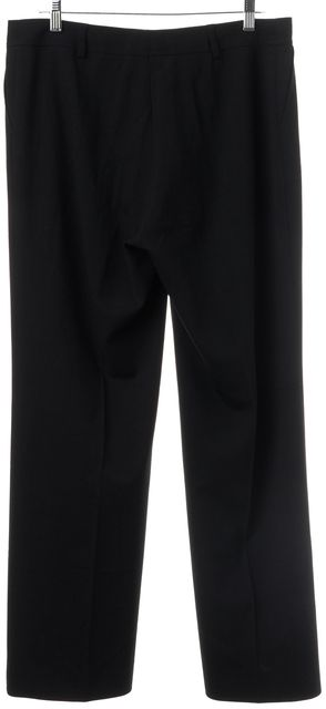 AKRIS Black Stretch Wool Blend Pleated Trouser Dress Pants