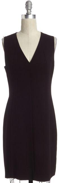AKRIS Burgundy Purple Sleeveless A-Line Dress