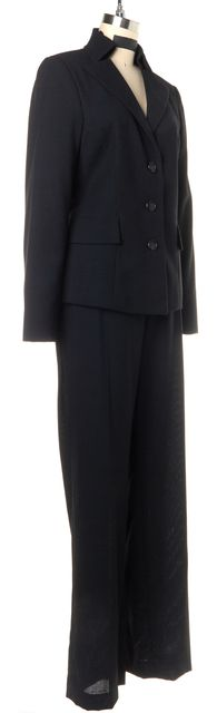AKRIS Black Wool Pant Suit Suit Set