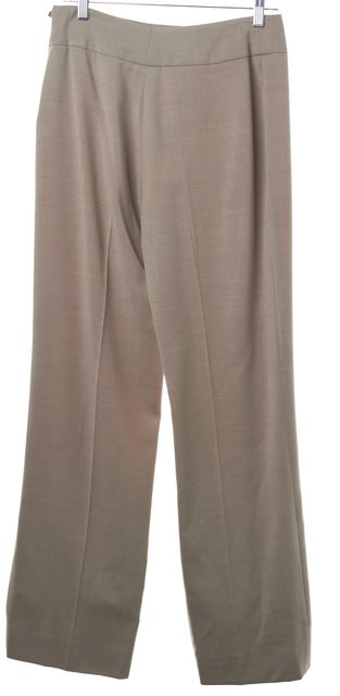 AKRIS Beige 100% Wool Dress Pants