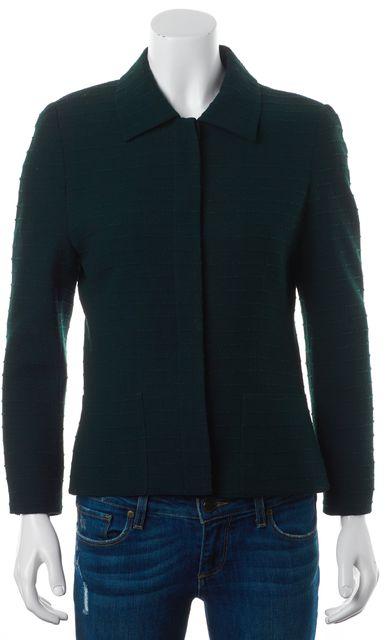 AKRIS Green Tweed Wool Basic Jacket