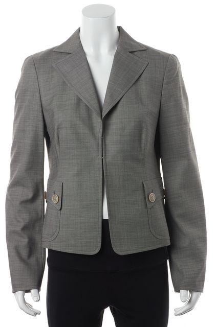 AKRIS Gray Wool Basic Jacket