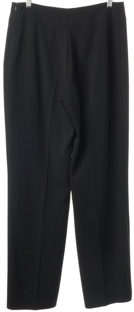 AKRIS Black Wool Casual Relaxed Fit Straight Leg Career Dress Pants