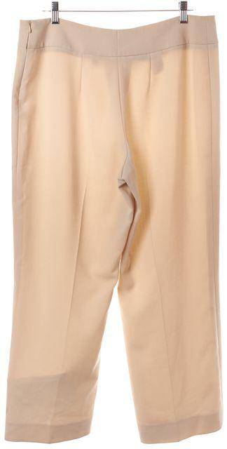 AKRIS Beige Wool Relaxed Fit wide Leg Dress Pants