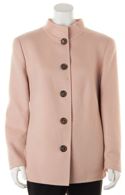 AKRIS Pink Wool Cashmere Basic Coat