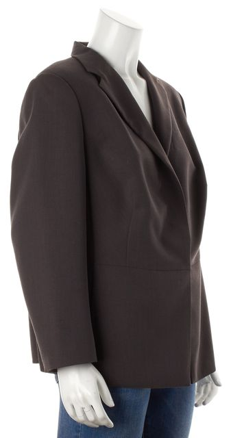 AKRIS Gray Purple Wool Blazer