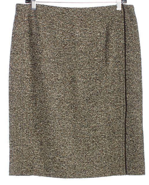 AKRIS Brown Tweed Pencil Skirt