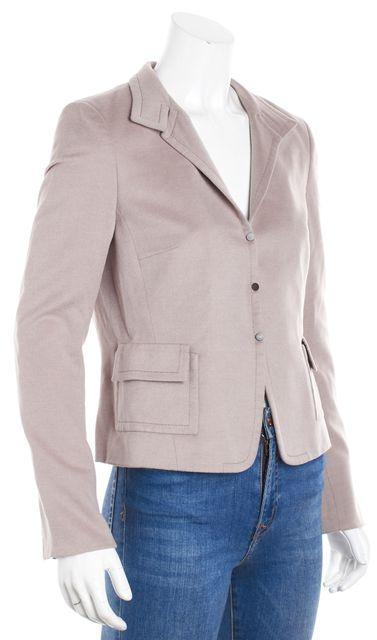 AKRIS Dusty Rose Cashmere Basic Jacket