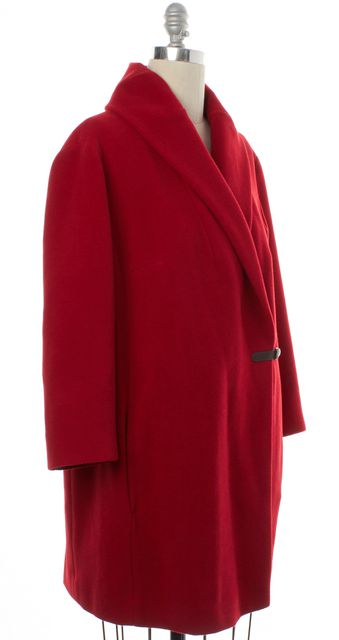 AKRIS PUNTO Red Wool Trench Coat