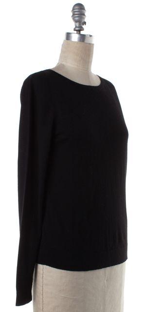 AKRIS PUNTO Black Wool Lon Sleeve Crewneck Knit Top