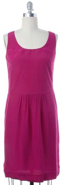 AKRIS PUNTO Pink Silk Pleated Sleeveless Shift Dress