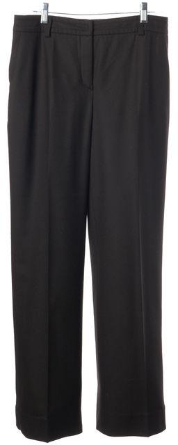 AKRIS PUNTO Black Pleated Trouser Wool Dress Pants
