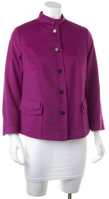 AKRIS PUNTO Purple Wool 3/4 Sleeve Basic Jacket