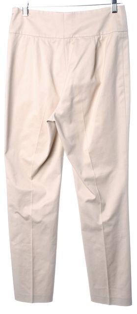 AKRIS PUNTO Beige Stretch Cotton Pleated Trouser Dress Pants