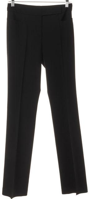 AKRIS PUNTO Black Wool Pleated Trouser Dress Pants