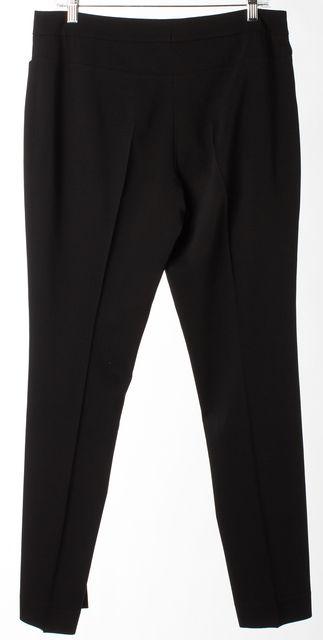 AKRIS PUNTO Black Wool Slim Fit Skinny Ankle Trousers Pants