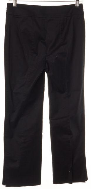 AKRIS PUNTO Black Stretch Cotton Pleated Cropped Dress Pants