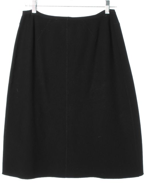 ALAÏA Black Knee-Length A-Line Skirt