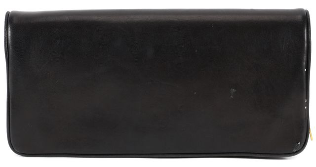 A.L.C. Black Leather Flap Over Clutch Bag