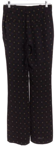 A.L.C. Black Red Yellow Print Silk Trouser Pants