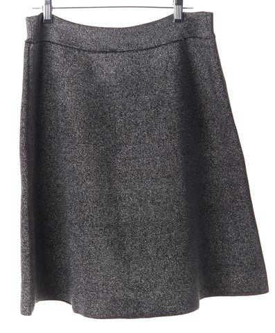 A.L.C. Silver Metallic Heavy Knit A-Line Skirt