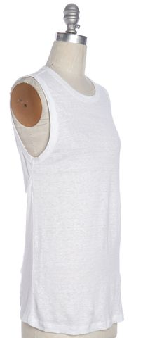 A.L.C. White Linen Sleeveless Knit Top Size M