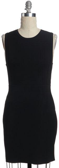 A.L.C. Black Sleeveless Crewneck Bodycon Dress