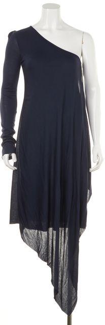 A.L.C. Navy Blue Modal One Shoulder Asymmetrical Hem Dress
