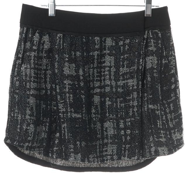 A.L.C. Navy Blue Gray Black Tweed Linen Blend Mini Skirt